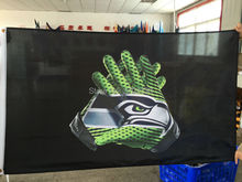 Seattle Gloves Flag Super Bowl Champions World Series Football Premium Team Custom 3ft X 5ft Gloves Seattle Banners(China)