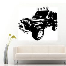 JEEPS WRANGLER Rubicon Sahara Wall Art Sticker Decal 2 Sizes can choose(China)