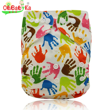 Ohbabyka Cloth Diapers Washable Reusable Dipaers Fitted for Baby Girls and Boys Adjustable Snap One Size Cloth Pocket Diapers