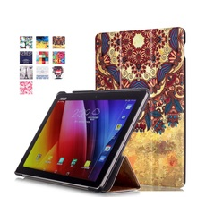 For Asus ZenPad 10 Case Pattern Printing Tri-fold PU Leather Stand Flip Case for Asus Zen Pad 10 Cover Z300C Z300CL Z300CG Bag