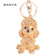 EASYA Porte Clef Rhinestone Keychain Cute Dog Keychain Lovely & Sporty Men & Women Key Chains Factory Direct Sale CHY-1365(China)
