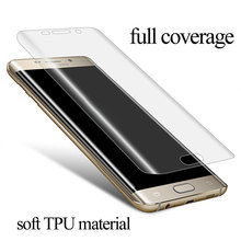 Full Coverage Screen Protector For Samsung Galaxy S7 edge S6 edge TPU material anti-explosion with retail packing set(China)