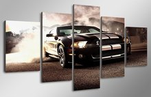 New 5 Pieces/sets Canvas Art HD  Ford Mustang Shelby Car Canvas Paintings Decorations For Home Wall Art Prints Canvas \C-606