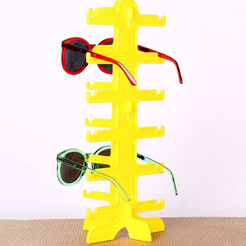 Fashion Sun Glasses Eyeglasses Plastic Frame Display Stands Shelf Eyewear Counter Show Stand Holder Rack 6 Layer 5 Colors
