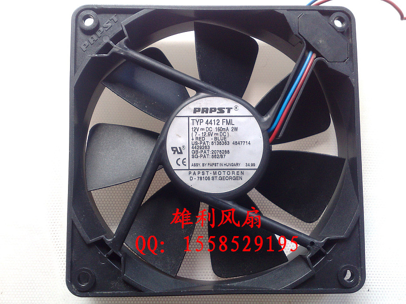 Free Delivery.4412 FML 12V 0.16A 2W 12025 12CM FAN<br>