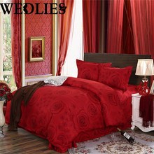 3/4PCS Duvet Cover Pillowcase Quilt Bedding Set Single Queen King Wedding Bedding Set Bedclothes Quilt Cover Bed Line Set