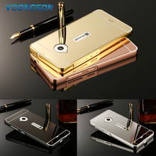 VOONGSON Metal Aluminum Frame Acrylic Mirror Back Cover Case For Nokia Microsoft Lumia 535 550 630 640 830 930 950 XL 1320 1520