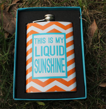 9oz  colorful Stainless Steel Liquor  Portable Hip Flask  Mini Alcohol Drink Bottle  Fishing Outfits personalized flask
