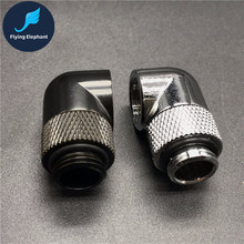 G1/4 Water Cooling tube Fitting 90/135 Degree Bent Quick Twist , 360 Degrees Rotating pipe Connector