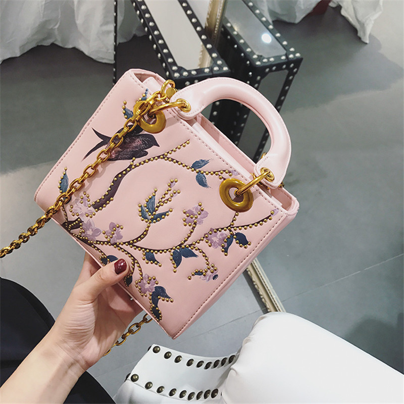 2017 designer embroidery tote handbag  womens handbag luxury handbags women bagsshoulder bags famous brand ladies handbag<br>