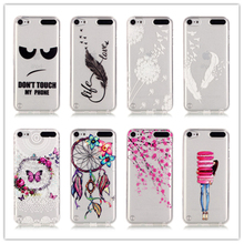 Protective Case For Touch 5 Case Cover Fashion Style Silicone Ultra Thin Soft Transparent TPU For iPod Touch 5 / Touch 6 Case