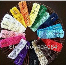 1.5inch Crochet Head Bands  candy Headbands  hair accessories kids waffle Headbands 26colors U Pick 60pcs/lot