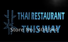 LK706- Thai Restaurant This Way Food LED Neon Light Sign home decor crafts(China)
