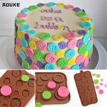 Button Shapes Chocolate Silicone Mold Candy Fondant Cake Mould Biscuits Cookies Soap Molds Cake Decoration DIY Baking Tools L055