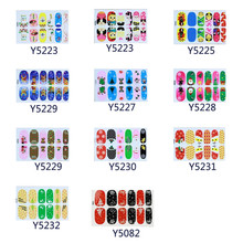 11pcs Christmas Nail Art Transfer Stickers 3D Design Manicure Tips Decal Decoration  Women's Fashion Makeup  Nail Tools beauty