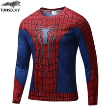 Marvel Comics Super HeroesCaptain America Spiderman Superman Batman Iron ManLong Sleeve T Shirt Clothing Costume Tee Shirt(China)