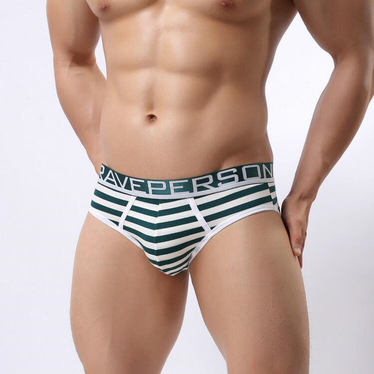 Hot sell Brave Person Brand Underwear Men's Cotton Striped Briefs Underpants Men Panties Comfortable Wide Belt Underwear 1154 18