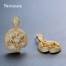 NEWBARK Hot ! Cute Little Frog on a Lily Pad Drop Earrings Charm Lotus Leaf Animal Earring Gold And Silver Color Gifts For Women