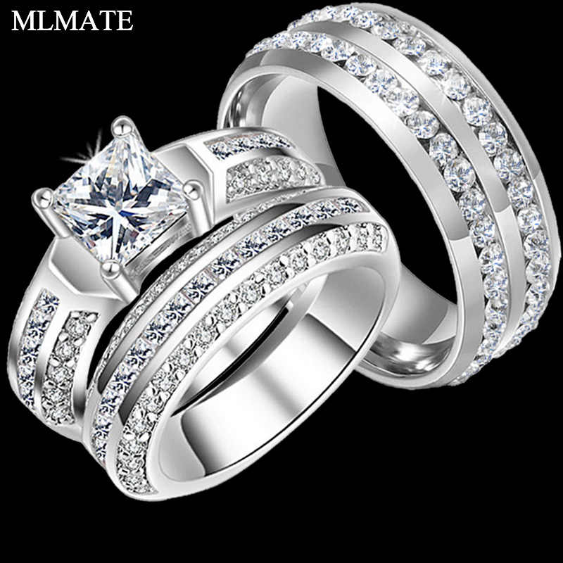Detail Feedback Questions About Charm Couple Rings His Her 316l