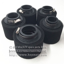 Black Straight Neck Foam Air Filter 35mm 38mm 42mm 45mm 48mm Sponge Cleaner Moped Scooter CG125 150cc Dirt Pit Bike Motorcycle(China)