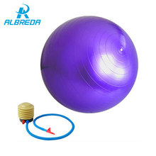 ALBREDA New 55cm Yoga Ball Health Balance Pilate Fitness Gym Home Exercise Sport with Air Pump 3 color ball Stability training