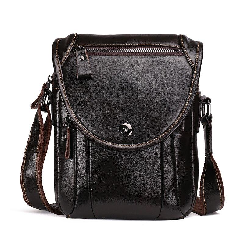 Genuine Cowhide Leather Mens Crossbody Shoulder Bag Casual Fashion Handbag Briefcase Messenger Bag For Man Male LS8877<br>