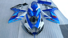 Injection mold Fairing Kit for SUZUKI GSXR 600 750 K6 06 07 GSXR600 GSXR750 2006 2007 ABS Blue white black Fairings+7gifts SD82