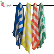Zipsoft Large Beach Towel 85*200cm Microfiber Striped towels Quick Dry Travel Towel Lightweight & Compact Yoga mat Bath Mat 2017(China)