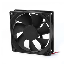 PROMOTION! 90mm x 25mm 9025 2pin 12V DC Brushless PC Case CPU Cooler Cooling Fan(China)