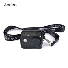 Andoer Multifunctional Clip-on Camera Case Carrying Camera Bag w/ Neck Lanyard Lens Cap for SJCAM SJ4000 SJ5000 Action Cameras(China)