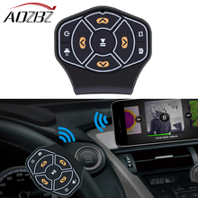 AOZBZ Universal Wireless Bluetooth Car Steering Wheel Remote Control Fit with Android iOS Systems Multimedia Player Button(China)