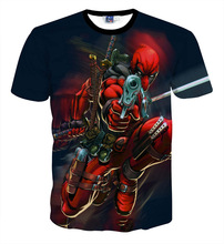 New style American Comic Badass Deadpool T-Shirt Tees Children's Clothing big kids Cartoon Characters 3D t shirt