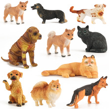 1Pcs/lot Simulation small animals Decoration Animal figures toys Cute Rabbit Puppy Cats Dogs Kids Toys Dolls