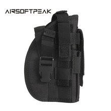 600D Tactical Molle Gun Pistol Holster for Right Hand Military Gun Pack Handgun Rifle Pouch Quick Release Hunting Pouches