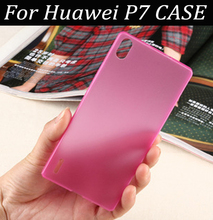 1Pcs/lot Colorful Clear Ultra Thin Matte Soft TPU Plastic Case Cover For Huawei Ascend P7 Cell Phone Case Skin Shell Capa