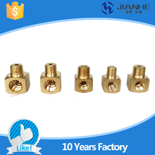 Buy 10pc Plane elbow joint/ Machine tool lubrication Brass oil Pipe Fitting 4/6mm OD Tube Compression Fitting Connector