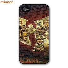 minason Wu Tang Clan Music Band Logo Cover case for iphone 4 4s 5 5s 5c 6 6s 7 8 plus samsung galaxy S5 S6 Note 2 3 4 H4147(China)