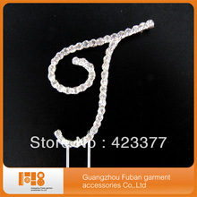 Free Shipping 2017 Hot new products letter T crystal rhinestone Monogram Initial Wedding Cake Topper(China)