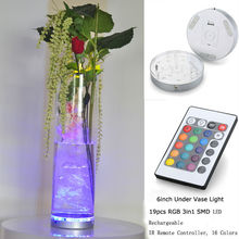 4 Pieces/Lot 3AA Battery Electric LED Light Display Base 19 Pcs Leds Wedding Favor Base Light With Wireless Remote