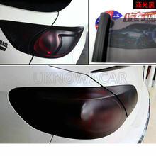 30CMX100CM Car New Matt Black Tail Light Film Tint Taillight Motorbike Headlight Rear Lamp smoked Tinting Film Stickers Styling