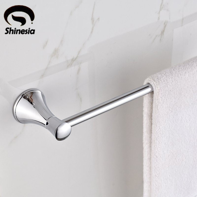 Newly Modern Euro Fashion Solid Brass Bathroom Towel Bar Single Bar Towel Holder Rack Wall Mounted<br>