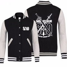 Anime Sword Art Online Asuna kirito SAO cosplay costume baseball jacket Sports high school coat sweater