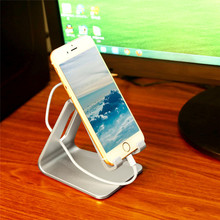 Universal Cell Phone Desk Stand Holder For iphone 7 Plus Samsung Charger Dock Station For Smartphone Tablet Stand Aluminium