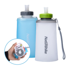 Naturehike Portable Silicone Folding Water Bag Sport Camping Outdoor Cup Water Bags Drinkware With Straw Kettle Travel Bottles