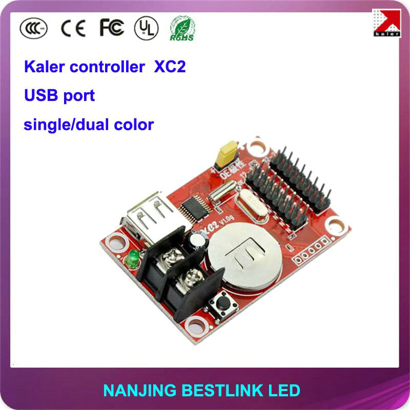 kaler LED controller card XC2 single color 32*320 pixel USB port led control card for led message sign led display screen sign(China)