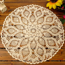 Crochet Tablecloth Round Table Cloth Tea Table Cloth White Crochet Tablecloth Cotton Tablecloths Manteles Toalha de mesa, 60cm