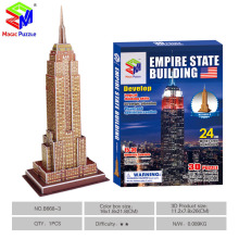 Magic Puzzle 3D Puzzle DIY Paper Empire State Building Puzzle For Kids Children Adults Anti Stress Gifts Toys Educational Toys