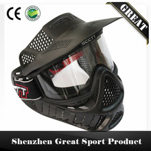 High Strength Paintball Mask or Airsoft Mask with Double Lens Goggle Free Shipping(China)