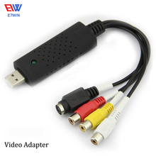 Hot Sale USB 2.0 Easy Cap Video TV DVD VHS DVR Capture Adapter Usb Video Capture Vedio Capture Device(China)