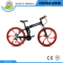 "26"" bicicleta plegable bicycles steel 21/24/27 speed Double shock absorption folding mountain bike Double disc bike"